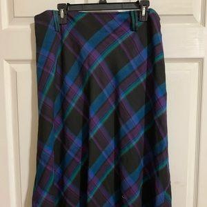 2 maxi plaid skirts
